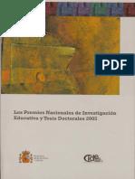 Premios nacionales investigacion educativa y tesis doctorales 2005