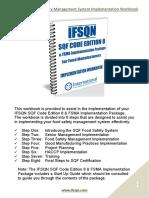 IFSQN SQF 8 & FSMA Food Safety Management System Implementation Workbook Sample