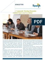 Syunik NGO Newsletter Issue 35