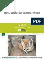 influencia da temperatura