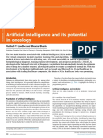 A.I And its potencial in Oncology