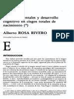 Alberto Rosa Rivero - Imágenes mentales desarrollo cognitivo en ciegos totales de nacimiento