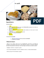 Receitas Low Carb - Novas