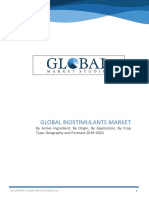 Biostimulants Market By Active Ingredient, By Origin, By Application, By Crop Type, Geography and Forecast 2019 to 2024