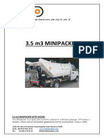 3.5m3 MINIPACKER TECHNICAL SPECIFICATION
