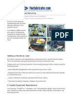 Cash in on lean manufacturing