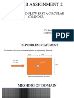 Flow past circular cylinder with mesh refinement study and optimization of domain
