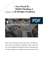 6 Factors You Need to Consider While Finding a Good Web Design Company