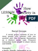 Lesson 9 Social Sciences 1
