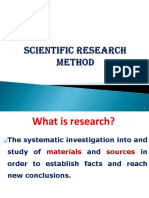 Scientific research method(1)