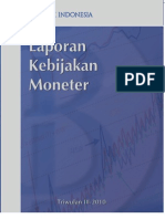 Bank Indonesia, Monetary Policy Report, 3 rd quarter 2010