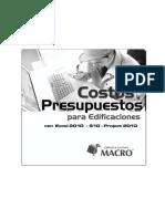 costos y presupuestos para edificaciones carlos eyzaguirre