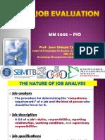 SESI 17-JOB EVALUATION METHDS