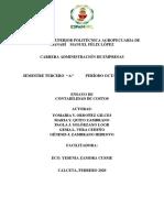 COSTEO VARIABLES y costeo basado poe actividsdes