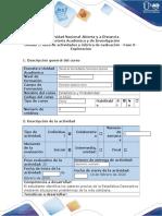 Guía de actividades y rúbrica de evaluación - Fase 0 - Exploración