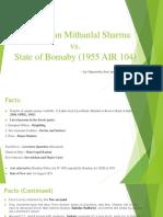 R M Sharma vs State of Bombay