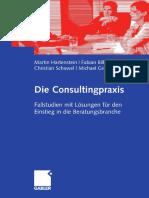 Die Consultingpraxis (Hartenstein2009 Book)