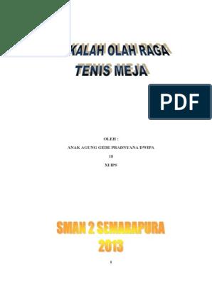 137000144 Makalah Olahraga Tenis Meja Pdf