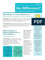 allergies and intolerances