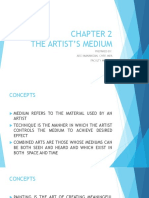 CHAPTER 2 THE ARTIST'S MEDIUM 2.ppt