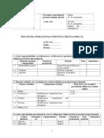 Procedura Operationala Privind Achizitia Directa