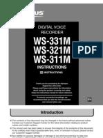Olympus Digital Voice Recorder WS-311M WS-321M Manual English