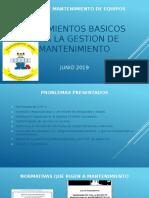 LINEAMIENTOS BASICOS PARA LA DOCUMENTACION  DE MANTENIMIENTO