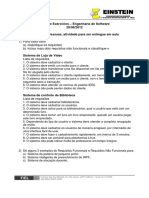 Lista de exercícios de Requisitos