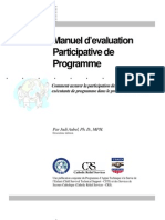 Manuel d'évaluation Participative de Programme