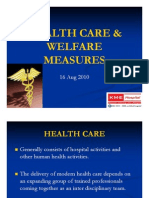 Health Care & Welfare Measures