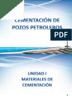 UNIDAD I - MATERIALES DE CEMENTACIÓN