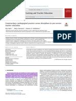 Constructing a pedagogical practice across disciplines