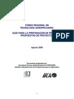 GUÍA PARA LA PREPARACIÓN DE PERFILES Y PROPUESTAS DE PROYECTOS