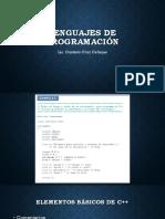 Lenguajes de Programación Unidad 1