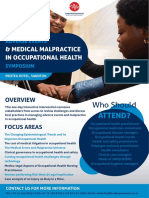 Adverse Events & Medical Malpractice in Occupational Health Symposium