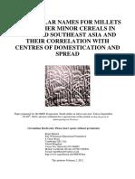 Blench Asia paper for AASc millets
