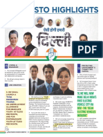 Congress Manifesto Highlights English