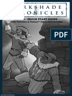 Darkshade Chronicles Quick Start Guide for Tunnels & Trolls Solo Adventures Decrypted