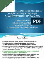 Implementasi KepmenLH 145- 2004 - Jafung Pedal