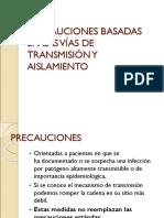 10-PRECAUCIONES BASADAS EN LAS VÍAS DE TRANSMISIÓN Y