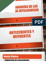 Las pedagogías de las diversas Inteligencias