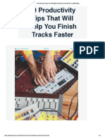 20 Productivity Tips That Will Help You Finish Tracks Faster _ LANDR Blog