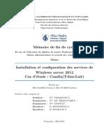 Installation et configuration des services de Windows server 2012 Cas d'etude  Candia Tchin- Lait.pdf