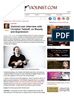 Violinist.com Interview with Christian Tetzlaff, on Beauty and Expression