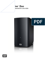 WD My Book Live Duo Personal Cloud Storage Manual - Spanish