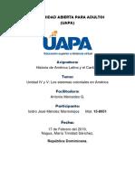 Unidad IV y V Los sistemas coloniales en América.docx