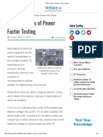3 Basic Modes of Power Factor Testing