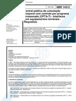 NBR 14512 - Central Publica De Comutacao Temporal Com Controle Por Programa Armazenado (Cpta-T) -.pdf