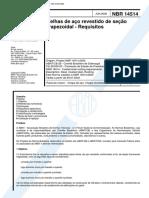 NBR 14514 - Telhas De Aco Revestido De Secao Trapezoidal - Requisitos