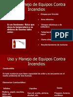 Uso y Manejo de Equipos Contra Incendios. Presentación